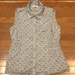 Dress barn sleeveless collared shirt